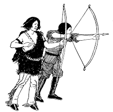 indian shooting arrow